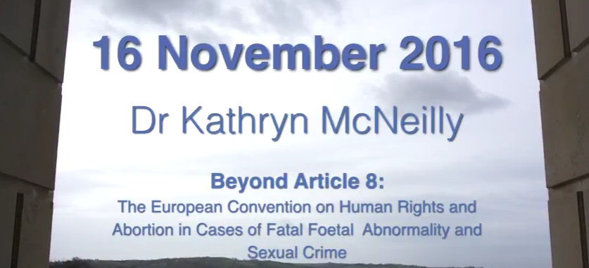 Dr Kathryn McNeill's talk to the Northern Ireland Assembly